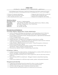 Technical Skills On Cv Impressive Network Administrator Resume Template Sample Featuring