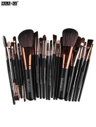 maange 22 pcs fiber eye makeup brushes set in coffee sammydress com