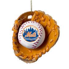 amazon com kurt adler new york mets baseball in glove ornament