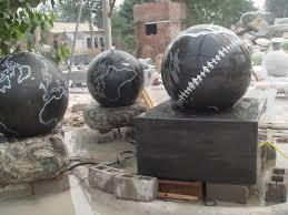 Gazing Ball Fountain Water Fountains Granite Or Marble Spheres