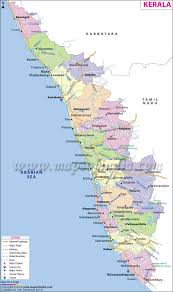 Map Of The New England States by Kerala Map State Fact And Travel Information