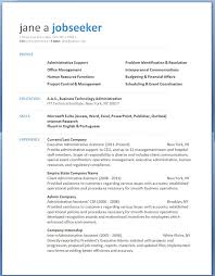 Medical Office Assistant Resume Examples by Microsoft Template Resume 7 Free Resume Templates 7 Free Resume