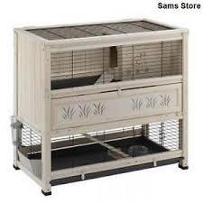 cage enclosure rabbit hutch guinea pig indoor 2 level easy clean