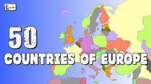 Show Map Of Europe by 50 Countries Of Europe Countries Of Europe Elearnin Youtube