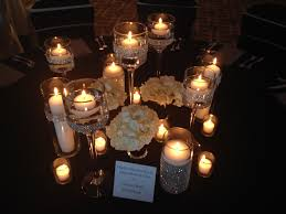 Black Centerpiece Vases by Elegant Candle Centerpiece Lots Of Candles Rhinestone Wrapped