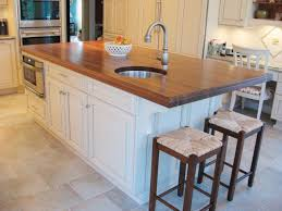 Kitchen Island With Chopping Block Top Beautiful Kitchen With Butcher Block Kitchen Island Instachimp Com