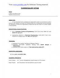 Java Resumes Testing Resume For Fresher Resume For Your Job Application