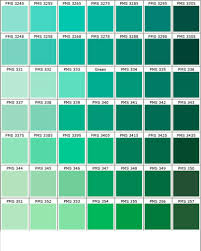 Color Swatches Paint by Nuancier Pantone Vert 1 Green Mix All Greens Information