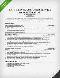Resume Examples For Food Service by Entry Level Customer Service Representative Resume Template Free