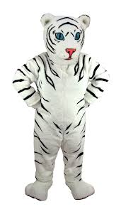 tiger halloween costumes buy white tiger cub mascot baby jungle cat costume mask us t0009