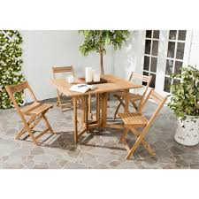 Safavieh Dining Room Chairs by Safavieh Arvin Teak 5 Piece Patio Dining Set Pat7001a The Home Depot