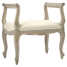Vanity Stools With Wheels Lacie French Country Beige Curved Scroll Vanity Stool Kathy Kuo Home