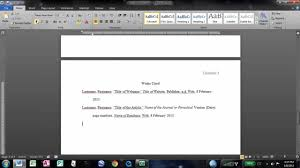MLA Format Essay Cover Page