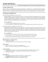 Free Audit Associate Resume Example JobAspirations com