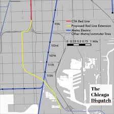Chicago Line Map is 2 billion red line extension best way to provide transit in