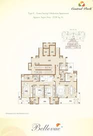 Central Park Floor Plan by Central Park 2 Belgravia Bellevue The Room Gurgaon