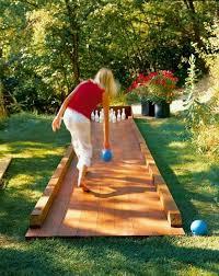 diy outdoor bowling alley viki things pinterest bowling