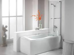 bathroom white melamine walk in bathtub and shower with steel