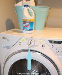 cleaning your washing machine with clorox bleach clean mama