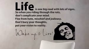 bob marley wake up and live wall decal vinyl sticker home