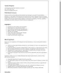 Sample Resume For Admin Assistant by Professional Accounting Administrative Assistant Templates To