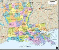 Map Of Florida Cities And Towns by Map Of Louisiana With Cities Towns And Counties Also With