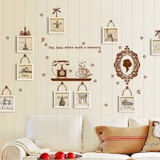 online get cheap mirror frame wall decal aliexpress com alibaba diy family photo frame wall sticker home decor flowers in the mirror living bedroom wall decals
