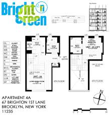 New York Apartments Floor Plans by Bright N Green Apartment 4a U2022 Floor Plan