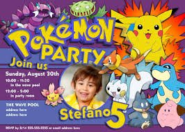 Birthday Invitation Cards For Kids Free Printable Invitation Pokemon Pinterest Free Printable