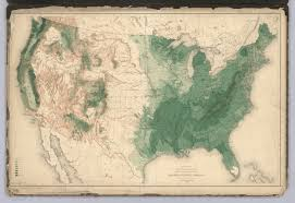Population Density Map United States by History Of American Forests Tree Maps Made For 1884 Census