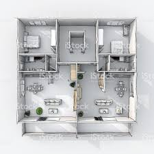 freehand sketch drawing plan view of furnished home apartment