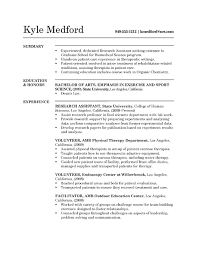 Example Of Resume No Experience by Amusing Undergraduate Research Assistant Resume 87 For Resume For