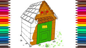 how to draw and paint house for dog i coloring pages and abc