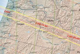 Maps Oregon by Four Maps The U201cgreat American Eclipse U201d Totality Path From Oregon