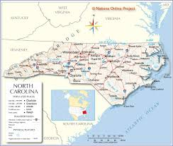 United States Map Major Cities by Reference Map Of North Carolina Usa Nations Online Project