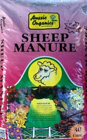 Manure For Vegetable Garden by Aussie Organics Sheep Manure 30 Litre Bag Dawsons Garden World