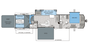 Fifth Wheel Bunkhouse Floor Plans 2016 Jayco Seismic 4212 Model
