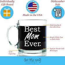 amazon com best mom ever glass coffee mug 13 oz top birthday