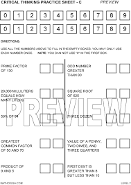 Free Critical Thinking Worksheets For  th Grade   Intrepidpath lbartman com free opposites printable worksheets packet to download and print