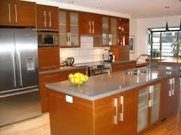 Kitchen Cabinet Refacing Veneer Charming Island Kitchen Layout Advantages With Wood Veneer Kitchen