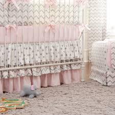 pink and gray chevron baby crib bedding chevron crib bedding
