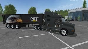 new kenworth semi eagle eye kenworth cat truck and eagle eye semi trailer by