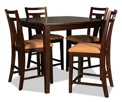 echo counter height table and 4 stools merlot levin furniture
