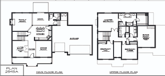 Simple 4 Bedroom House Plans by Exellent Simple 2 Story House Floor Plans To Design