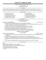 What Is Job Profile In Resume by Best Doctor Resume Example Livecareer