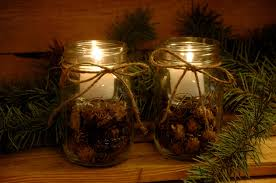 Rustic Decorations Rustic Candle Set Rustic Decor Farmhouse Table Decor