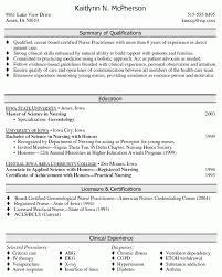 Summary Of Qualifications Sample Resume by 6 Nurse Practitioner Resume New Graduate Resume Sample Nurse
