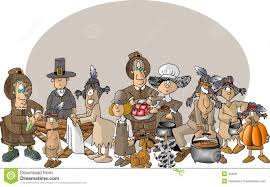 pilgrims on thanksgiving first thanksgiving royalty free stock images image 30409
