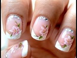 water decals french manicure easy nail art designs youtube