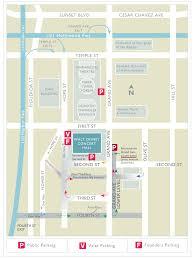Grand Park Los Angeles Map by Parking At Walt Disney Concert Hall La Phil